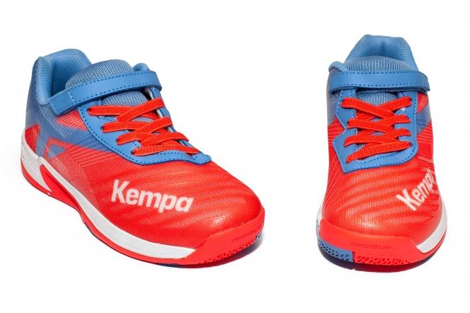 Pantofi fete Kempa Wing 2.0 Junior velcro 2019 corai 28-33