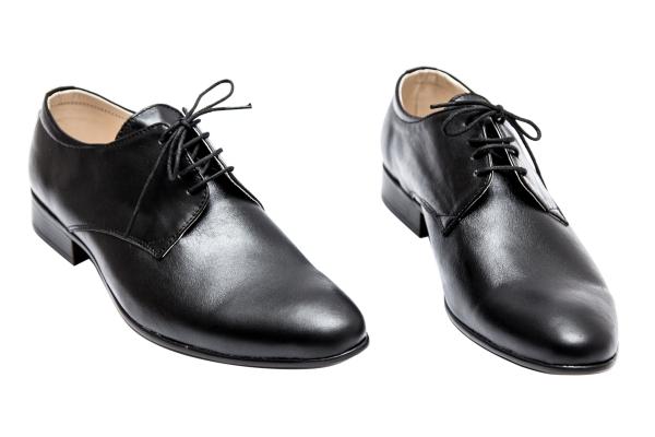 Pantofi baieti piele Alberto negru box 37-45