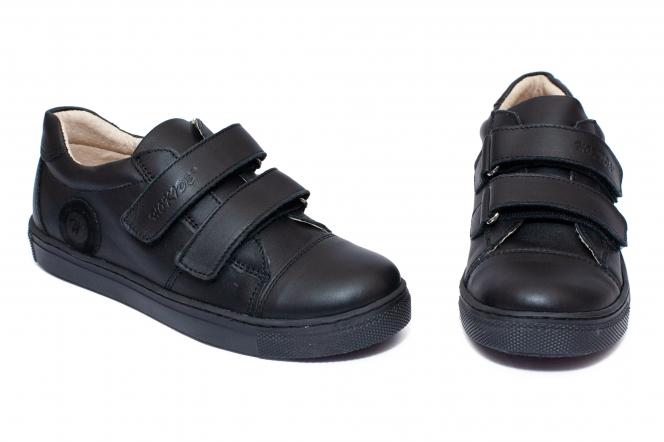 Pantofi baieti piele hokide 398 negru box 26-37