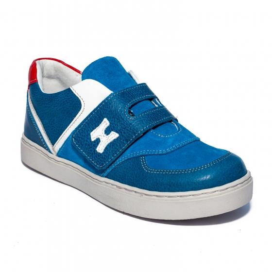 Pantofi baieti sport hokide 395 albastru alb rosu 26-35