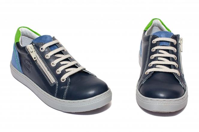 Pantofi baieti sport hokide 400 blu verde albastru 26-37