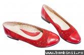 Pantofi balerini dama perforati laser 26 rosu 34-41