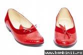 Pantofi balerini dama piele 026A rosu siret 34-41