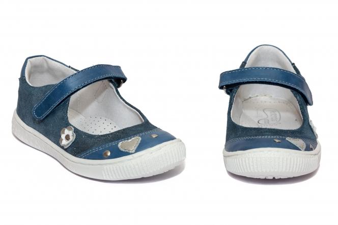 Pantofi balerini fete hokide 381 albastru lux 26-36