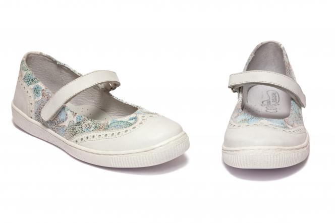 Pantofi balerini fete hokide 419 alb azur 26-35