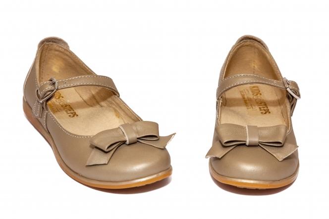 Pantofi balerini fete piele 1326 caramel 26-36