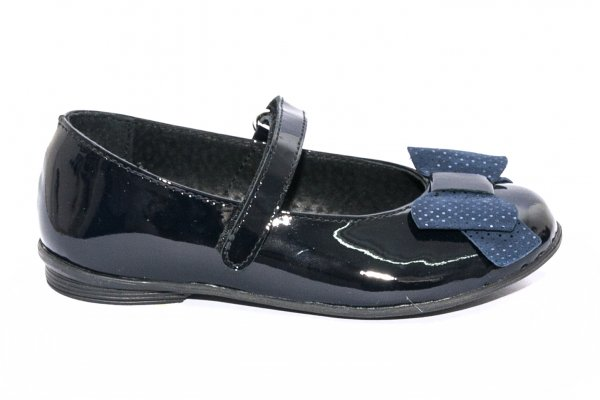 Pantofi balerini fete pj shoes Lia blu lac pipit 27-36