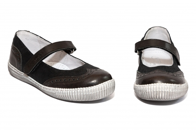 Pantofi balerini fete scoala hokide 419 negru lux 26-35