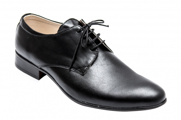 Pantofi barbati piele Alberto negru box 37-45