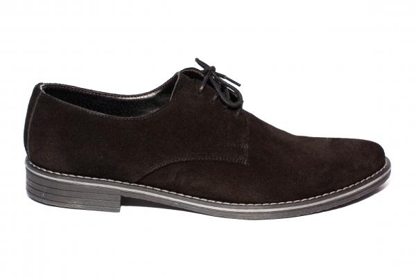 Pantofi barbati piele intoarsa 9 negru 36-46