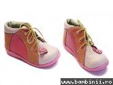 Pantofi copii piele 644 roz