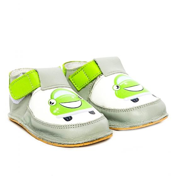 Pantofi copii cu talpa flexibila Woc 005 gri verde 18-25