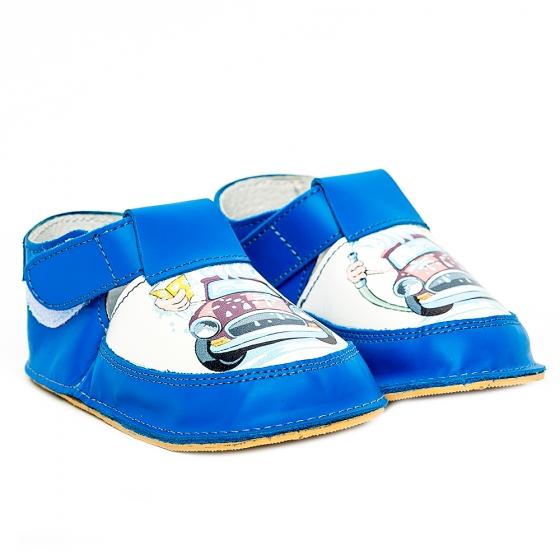Pantofi copii cu talpa foarte flexibila Woc 004 albastru cars 18-25