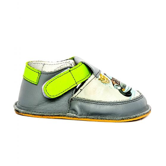 Pantofi copii cu talpa foarte flexibila Woc 007 gri cars 18-25