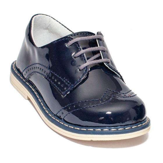 Pantofi copii eleganti hokide 207 blu lac 20-27
