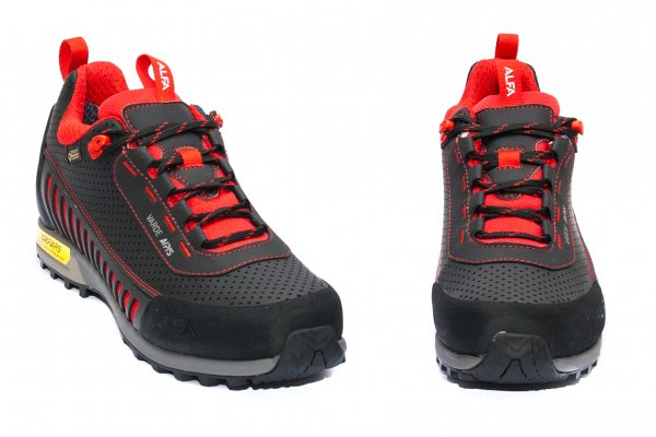 Pantofi copii impermeabili gore-tex vibram Alfa warde GTX negru rosu 36-45