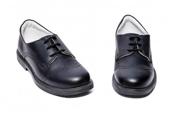 Pantofi copii piele hokide 207 negru box 26-37