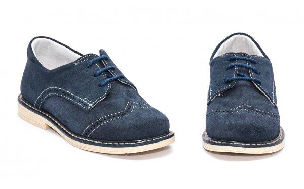 Pantofi copii piele intoarsa hokide 207 blu bej 20-37