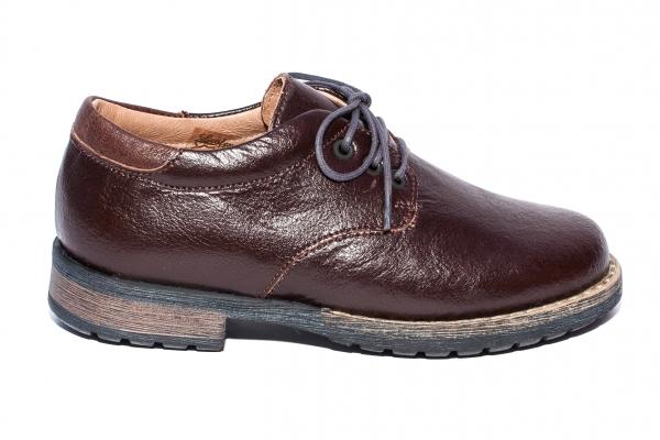 Pantofi copii piele leofex 101.2 maro 26-37