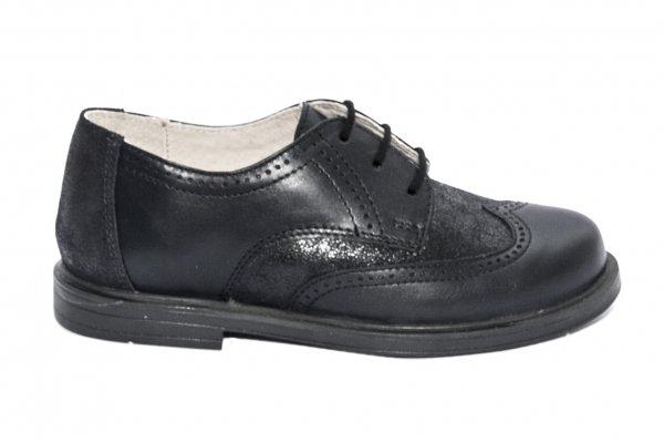 Pantofi copii scoala hokide 404 negru lux 26-37