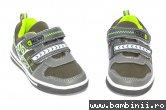 Pantofi copii sport 1026 gri verde 27-32