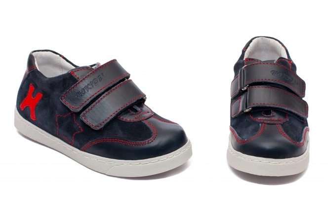 Pantofi copii sport hokide 127 blu rosu 26-37