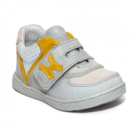 Pantofi copii sport hokide 395 gri galben 18-25
