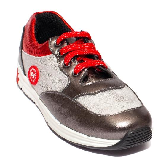 Pantofi copii sport pj shoes Horia gri rosu 27-37