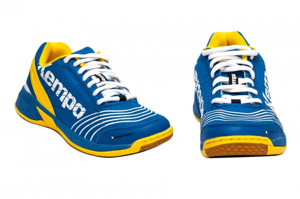 Pantofi copii sport sala Kempa Attack Jr 2017 albastru galben 28-39