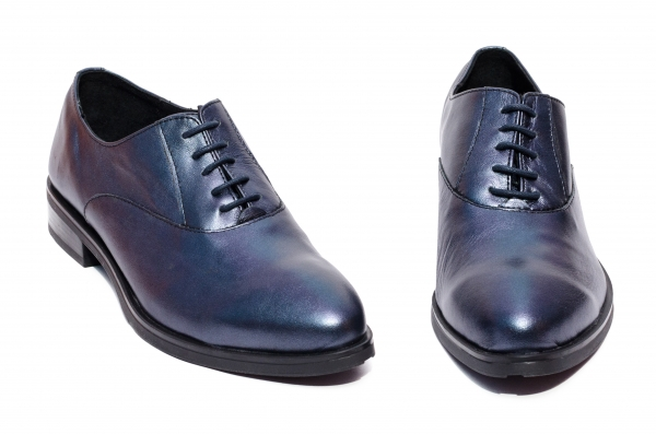 Pantofi dama piele naturala Coco blu 34-41
