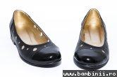 Pantofi dama piele perforati 46 negru box lac 34-41