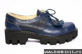 Pantofi fete cu talpa groasa 1390 blu 26-37