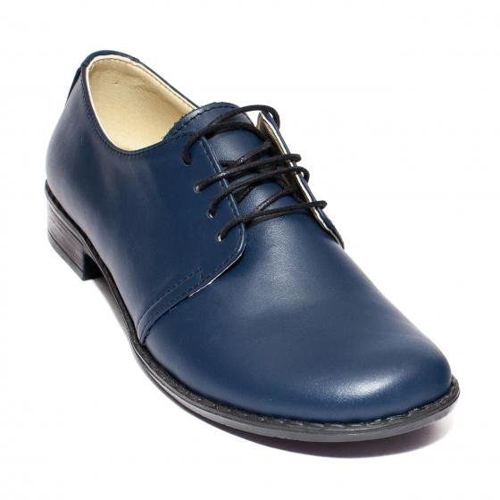 Pantofi fete din piele Mina blumarin 33-41