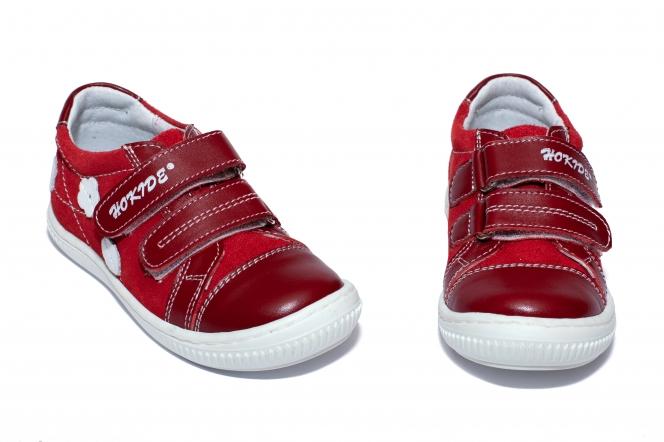 Pantofi fete hokide 387 rosu arici 26-35