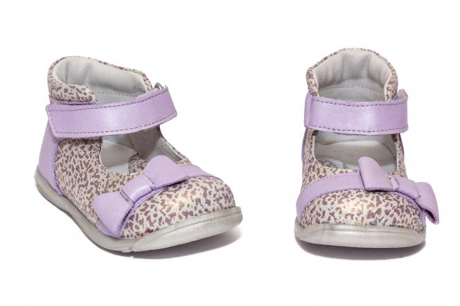 Pantofi fete inalt pe glezna pj shoes Beka mov lux 18-26