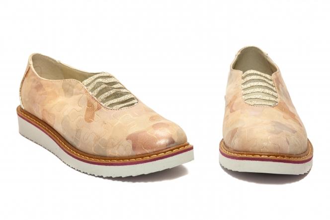 Pantofi fete piele 1905 bej roz auriu 26-40