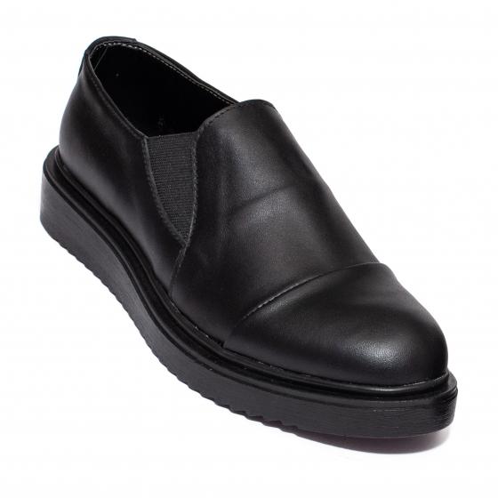 Pantofi fete piele DC55 negru box 34-41