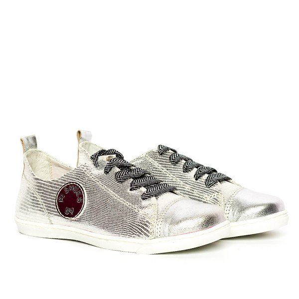 Pantofi fete piele naturala pj shoes Tag argintiu2 27-36