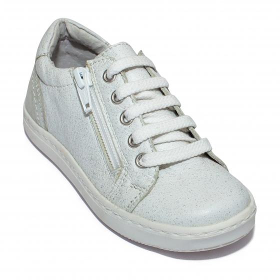 Pantofi fete sport hokide 400 alb sclipici 20-37