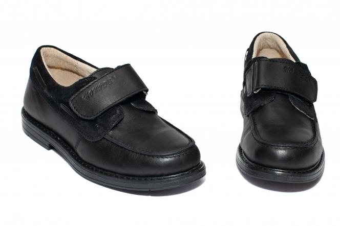 Pantofi mocasini baieti scoala hokide 408 negru arici 26-37