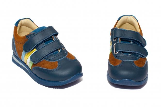 Pantofi sport baieti 731 maro blu 19-28