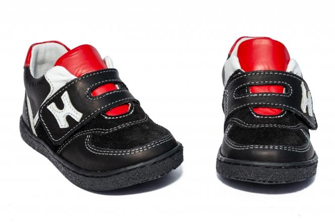 Pantofi sport copii hokide 395 negru rosu TS 19-25