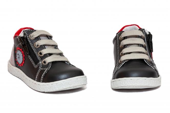 Pantofi sport copii hokide 400 negru gri rosu 18-25