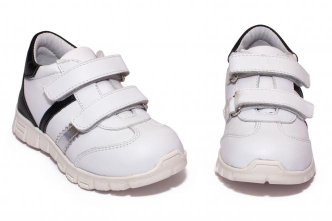 Pantofi sport copii pj shoes Costa alb negru 18-26