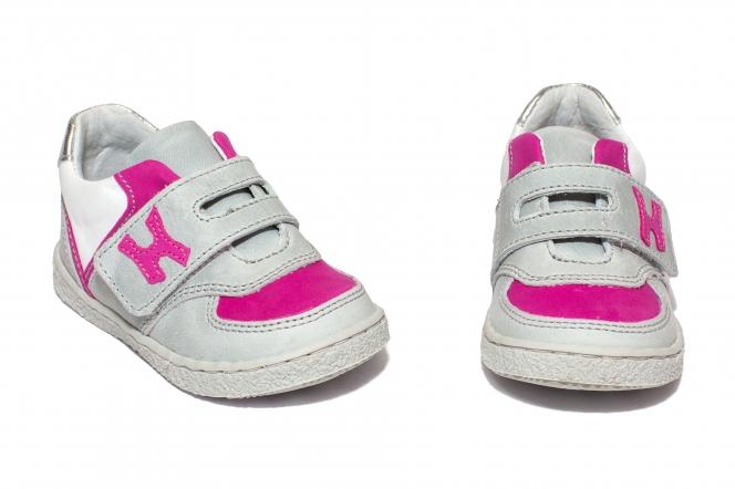 Pantofi sport fete hokide 395 gri fuxia 18-25