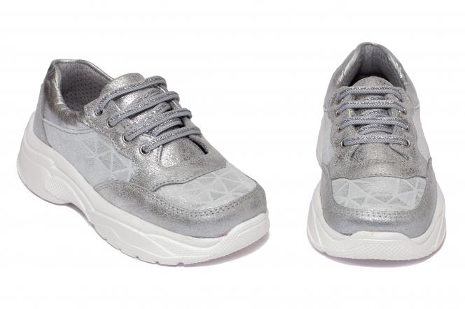 Pantofi sport fete pj shoes Kai argintiu 27-38