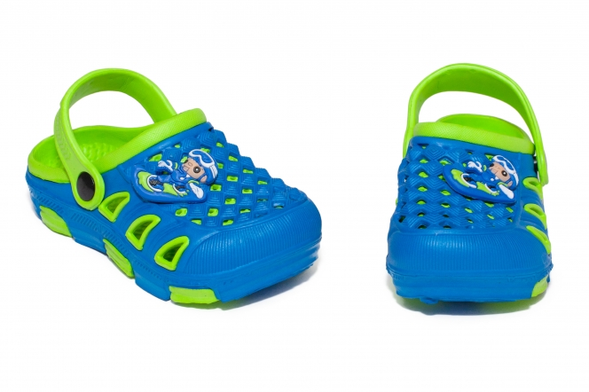 Papuci copii de plaja crocs 5668 albastru verde 18-35