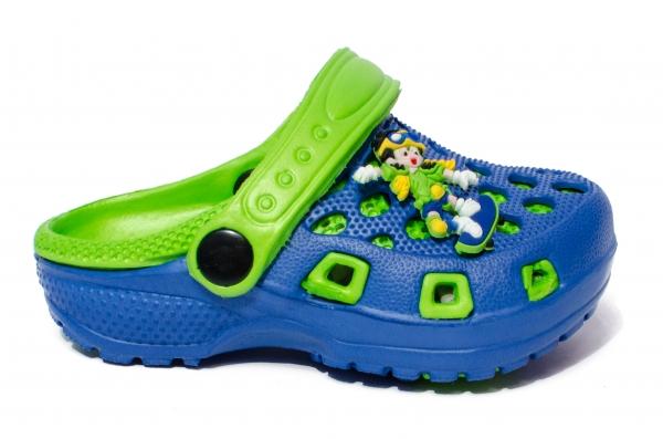 Papuci copii cauciuc crocs 1008 albastru verde 18-29