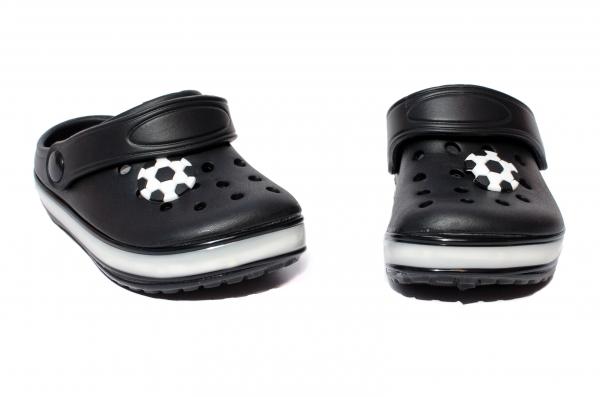 Papuci copii cu leduri 1293 negru 24-29