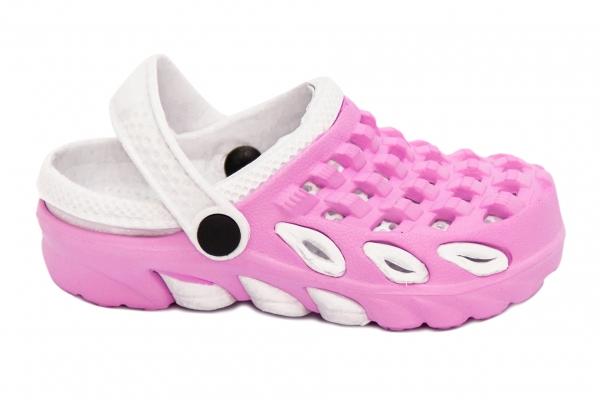 Papuci crocsi fete 1033 roz alb 18-35